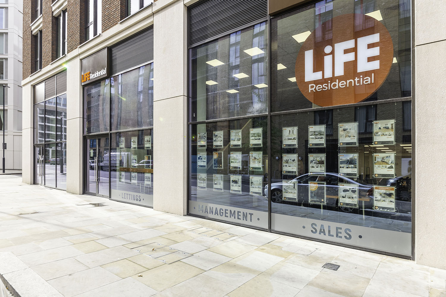 The LiFE Residential Royal Wharf branch is on-site