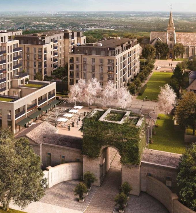 CGI exterior of St Bernard's Gate development