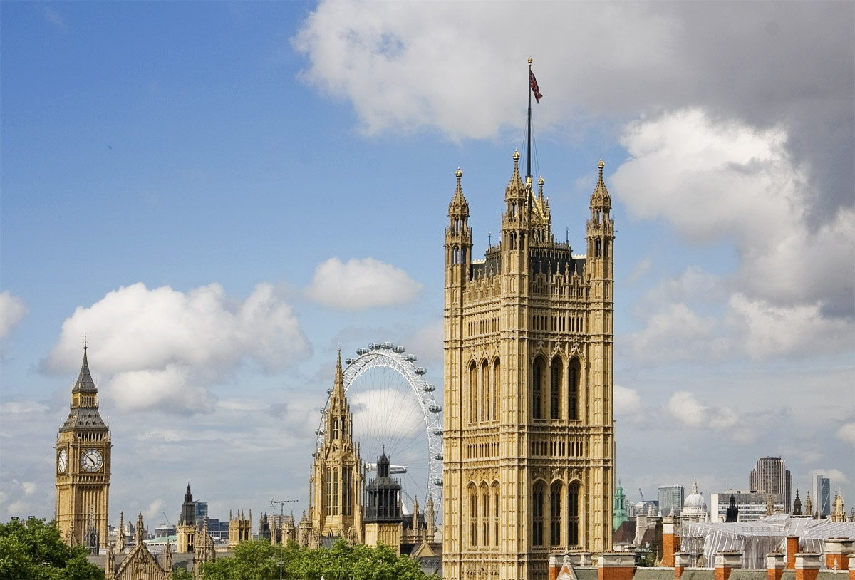 Image of Westminster featuring Big Ben and the London Eye