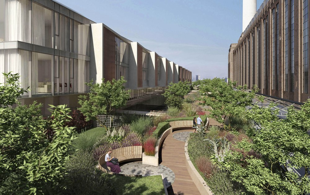 CGI of new rooftop gardens designed by James Corner, architect who designed the famous New York Highline