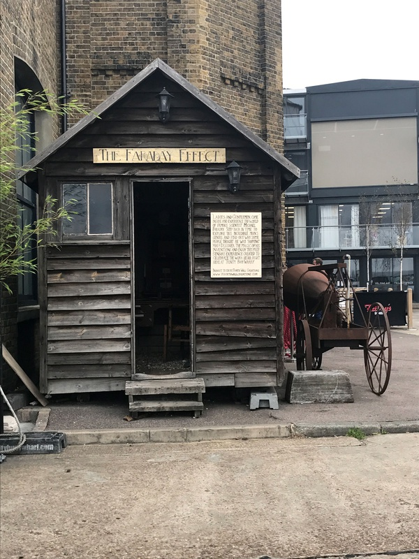 The Michael Faraday Museum, located in a tiny shed in Trinity Wharf